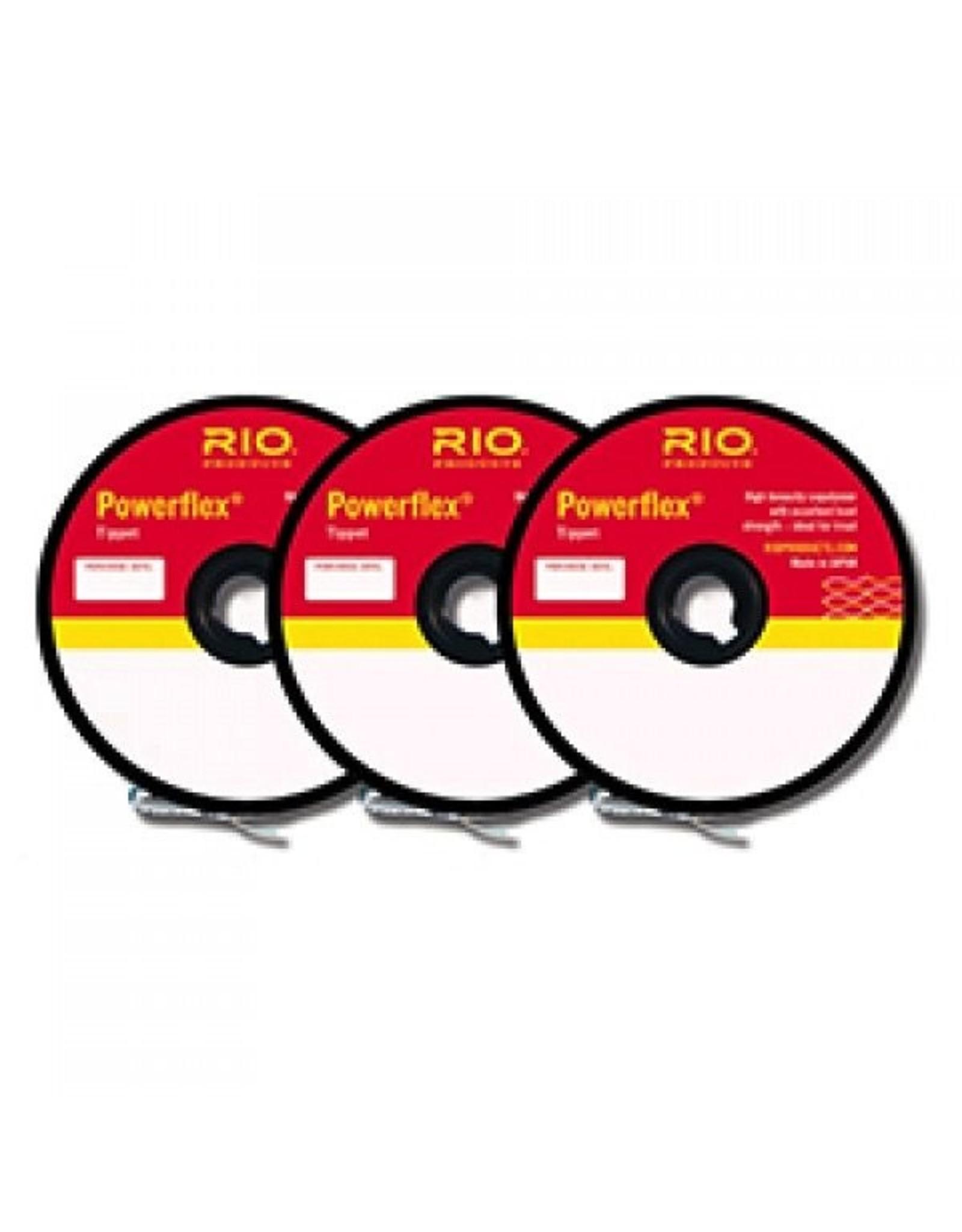 Rio Rio Powerflex Tippet 3 Pack.. 4X-6X