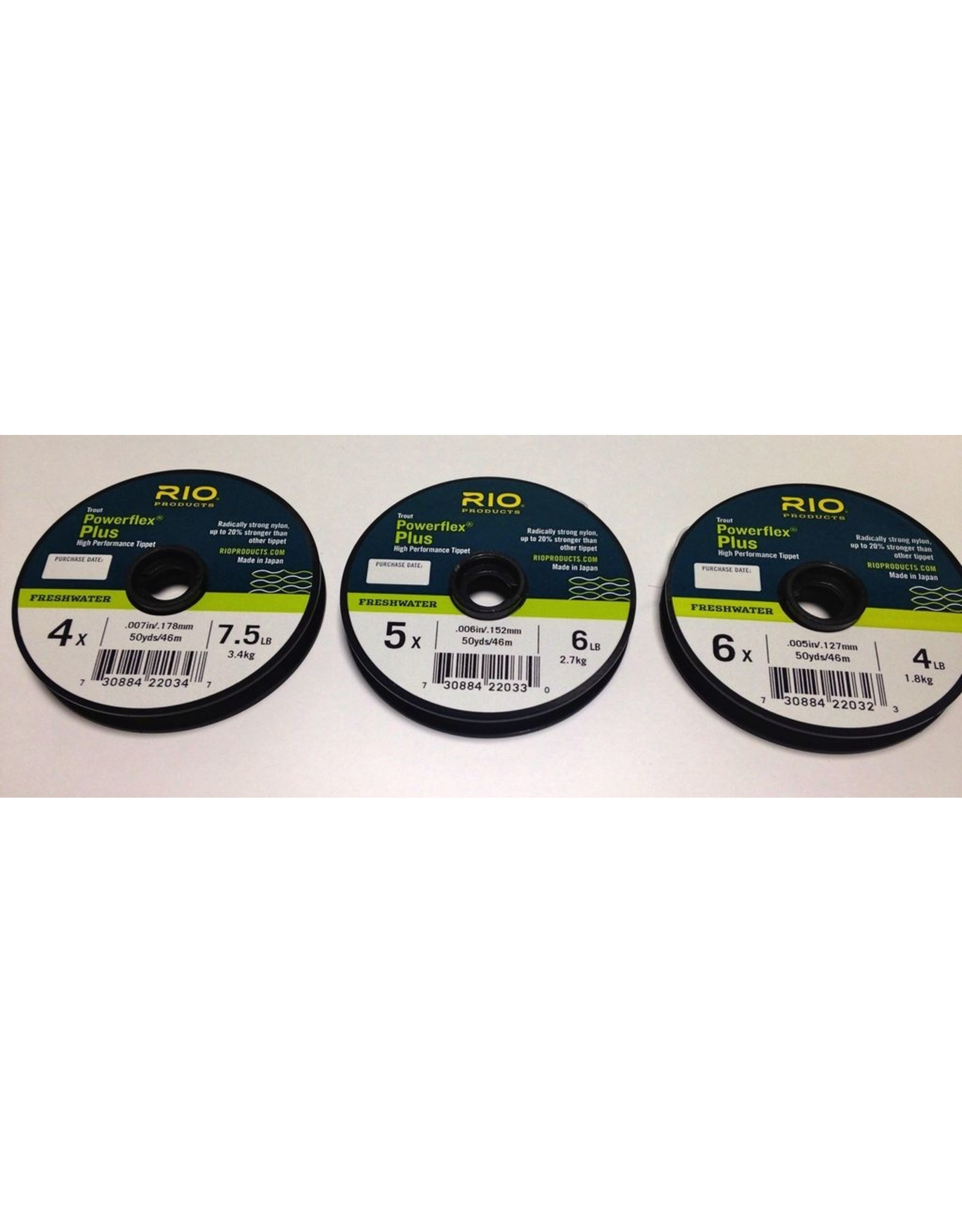 Rio Rio Powerflex Plus Tippet 3 Pack, 4X, 5X, 6X