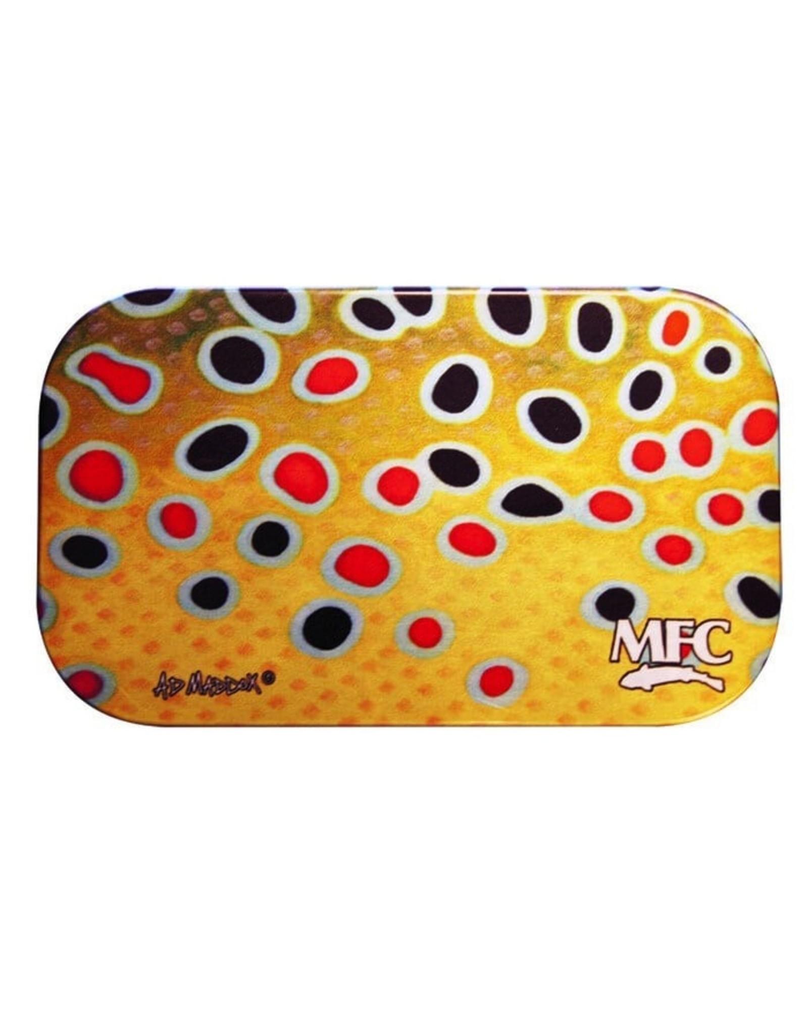 MFC MFC Aluminum Slit Foam Fly Box Maddox's Brown Trout Skin