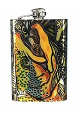 MFXC MFC Stainless Steel Hip Flask Estrada's Brown Trout Graffiti