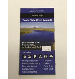 MaptheXperience South Platte River Pocket Fishing Map