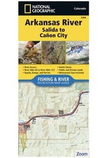 National Geographic Nat Geo Arkansas River Map (Detailed) Salida through Canon City