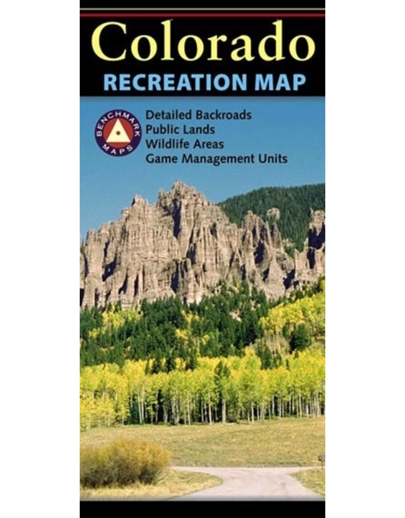 Benchmark Benchmark Maps Colorado Recreation Map