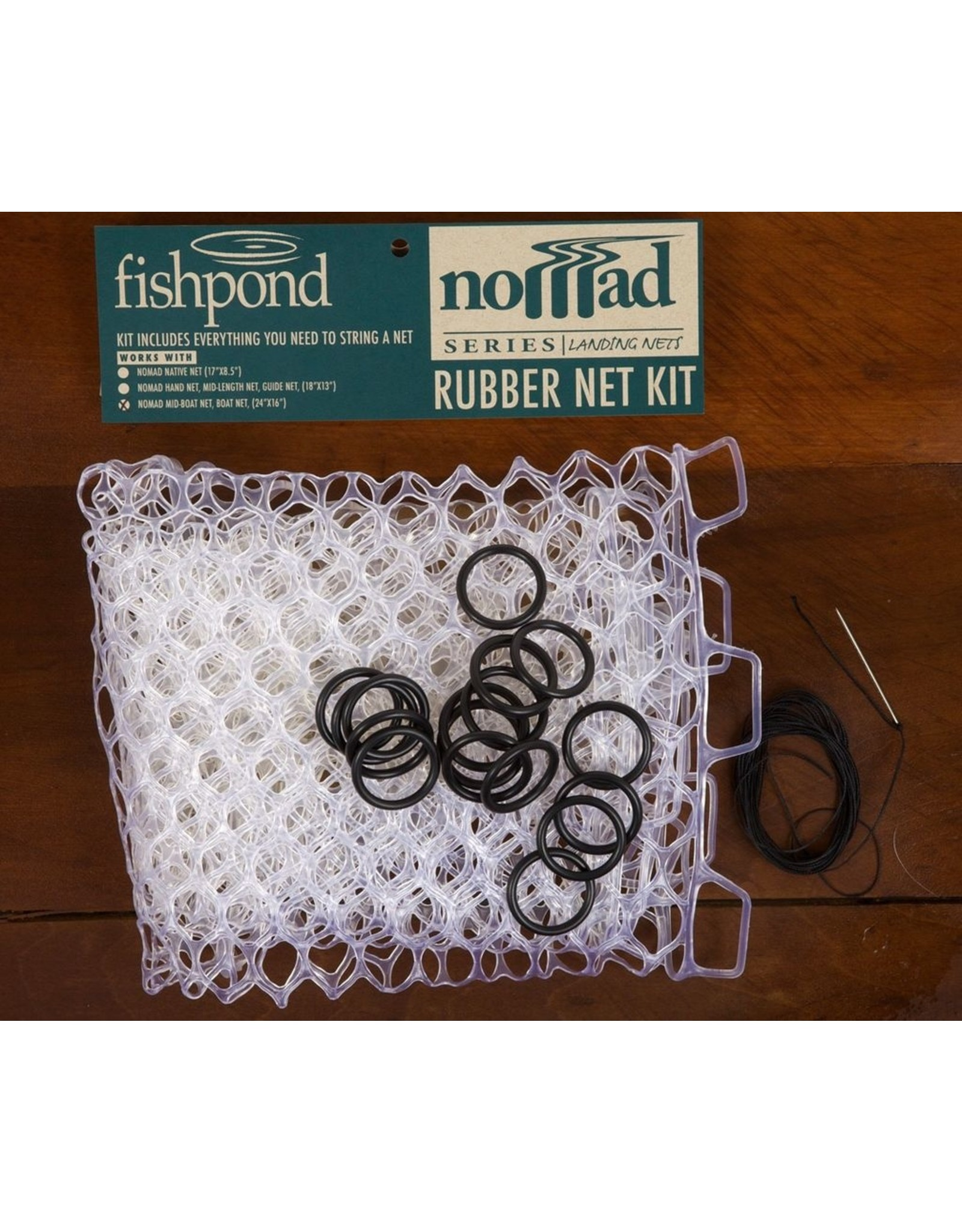 Fishpond Fishpond Nomad Replacement Rubber Net Kit  Large Clear