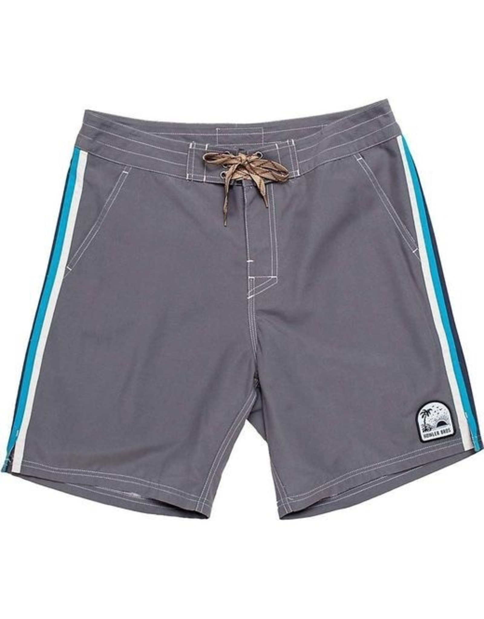 Howler Howler Chandler Old School Board Shorts  Grey w/Stripe