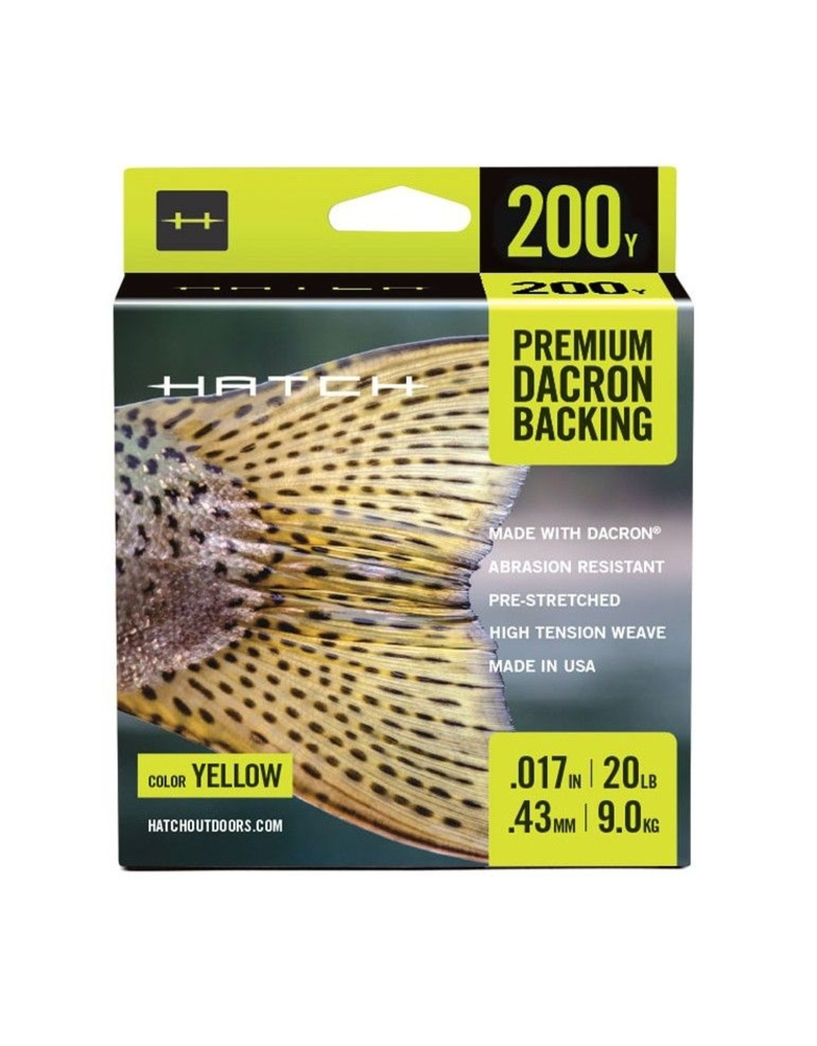 Hatch Hatch Premium Dacron Backing 20lb (200 yd)