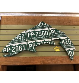 Richardson Colorado License Plate Trout Art