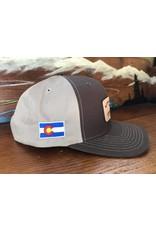 Stonebug Leather Patch Hat (Brown/ Khaki)