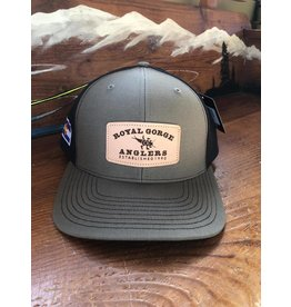 Stonebug Leather Patch Hat (Loden/Black)