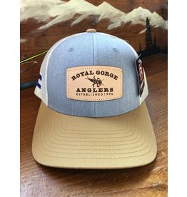Stonebug Leather Patch Trucker- LoPro (Heather Grey/ Gold)