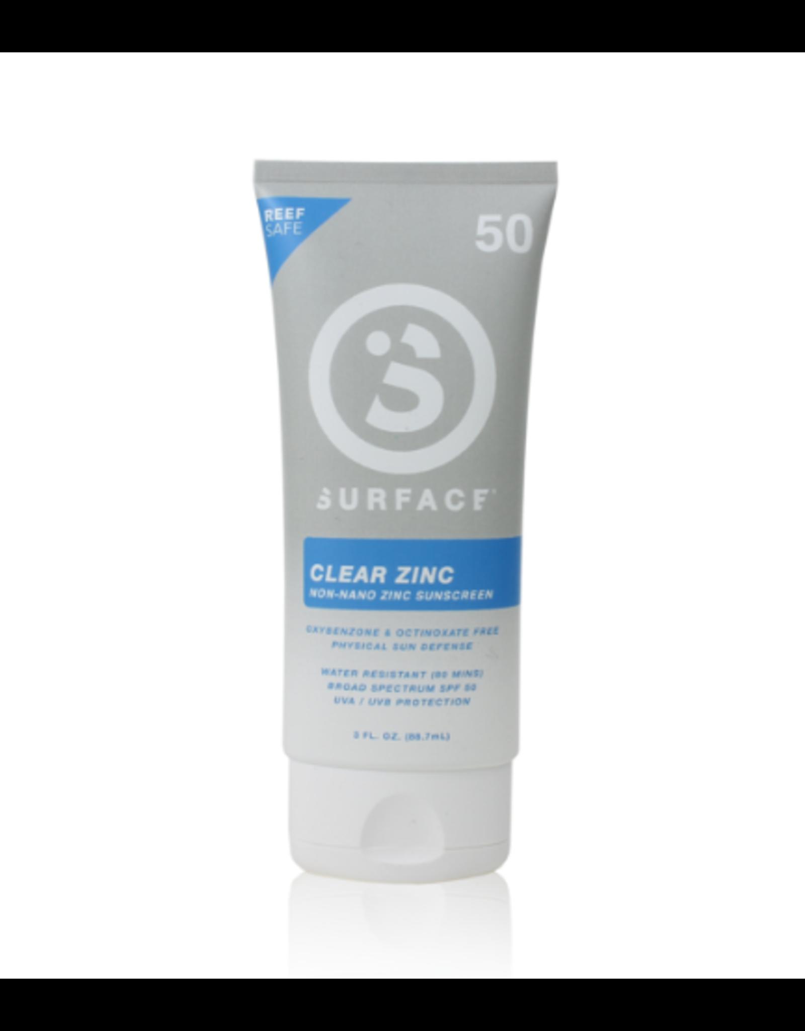 Surface Surface SPF50 Clear Zinc Sunscreen Lotion 3oz