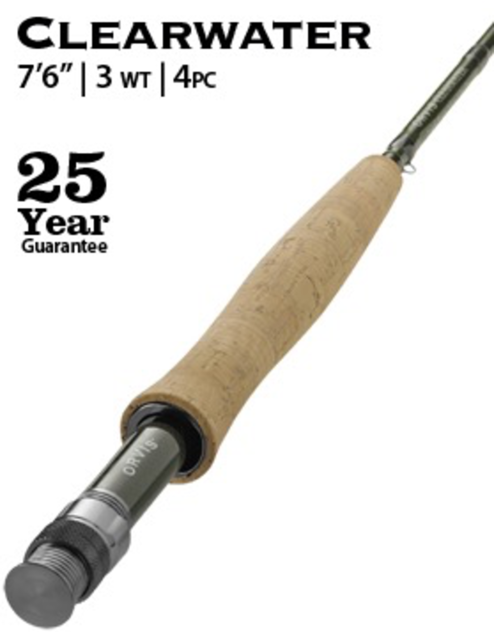 """Orvis NEW Orvis Clearwater Fly Rod 7'6"""" 3wt (4pc)"""