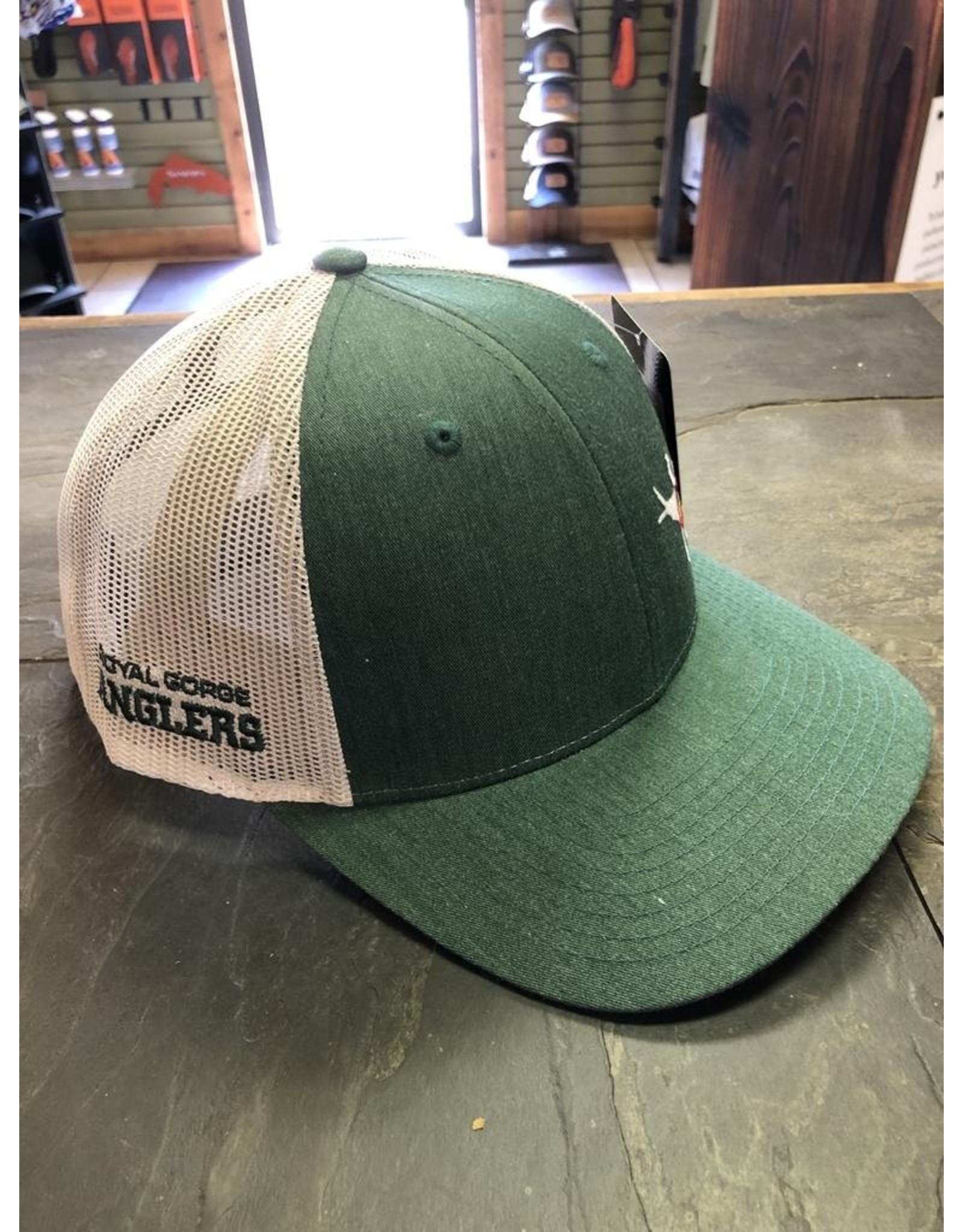 Richardson RGA Stonebug Trucker- LoPro (Dark Green/ Lt Grey)