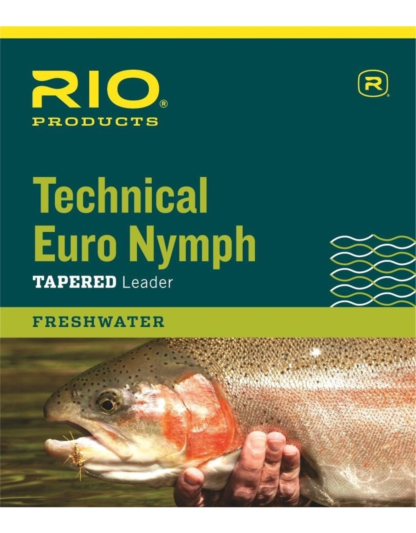 RIO Technical Euro Nymph Leader w/ Tippet Ring (2x/4x)