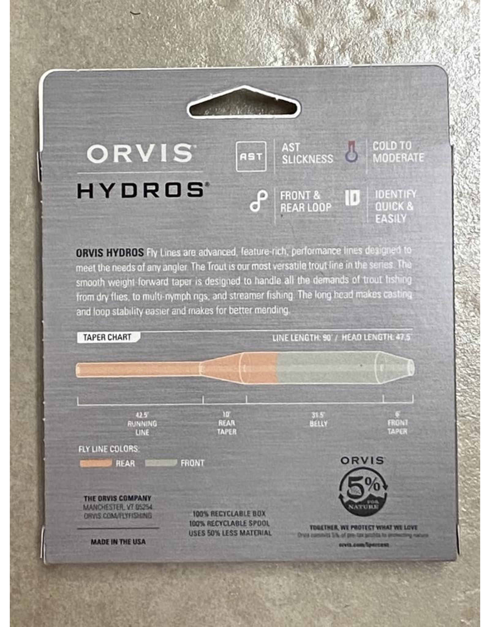 Orvis NEW ORVIS Hydros Trout Fly Line