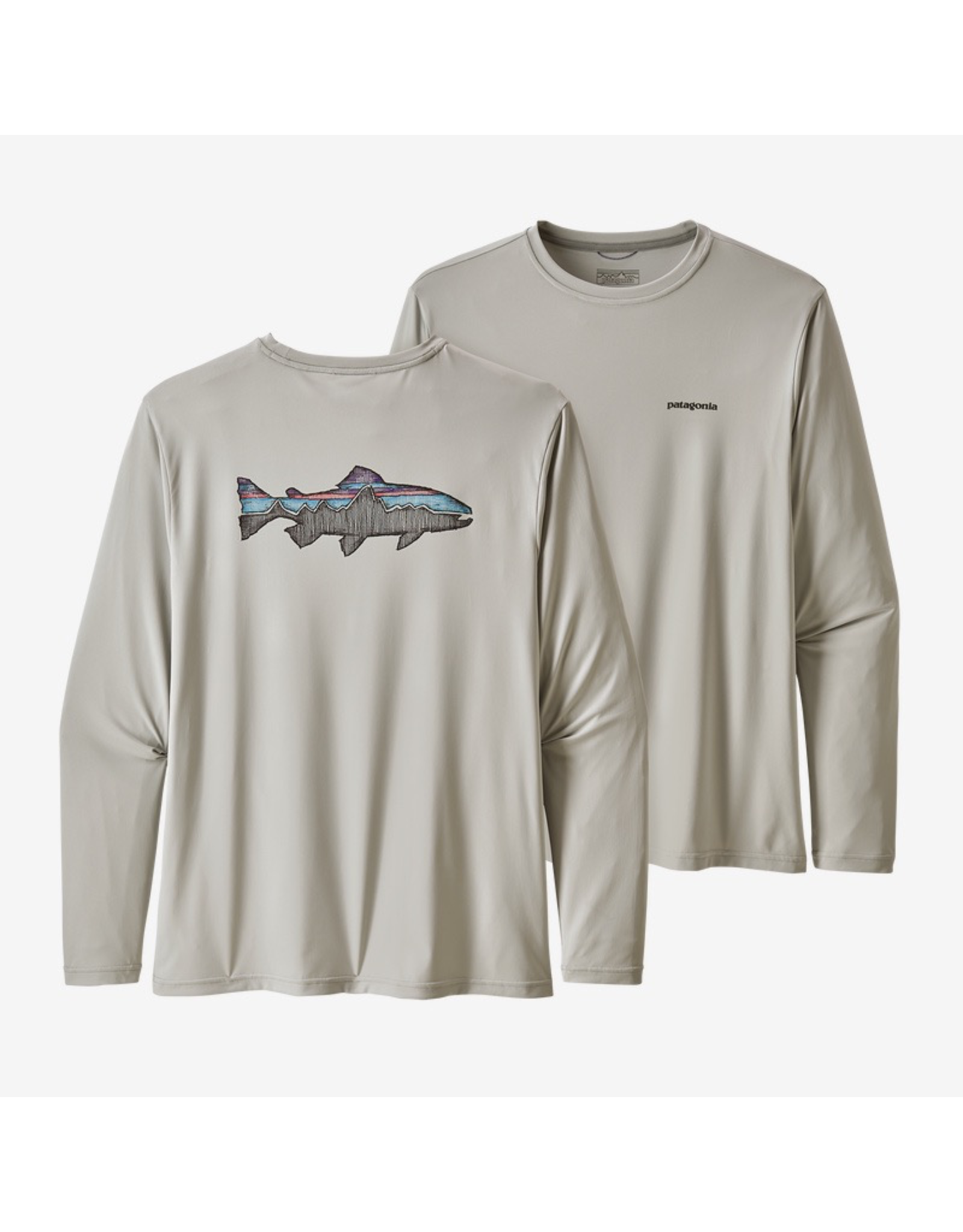 Patagonia Long-Sleeved Capilene® Cool Daily Fish Graphic Shirt