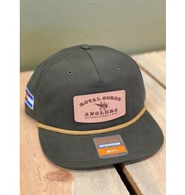 Stonebug Leather Patch Camper Hat (Loden)