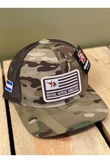 Richardson Stonebug Flag Patch Trucker Hat (MultiCam) *Made in USA