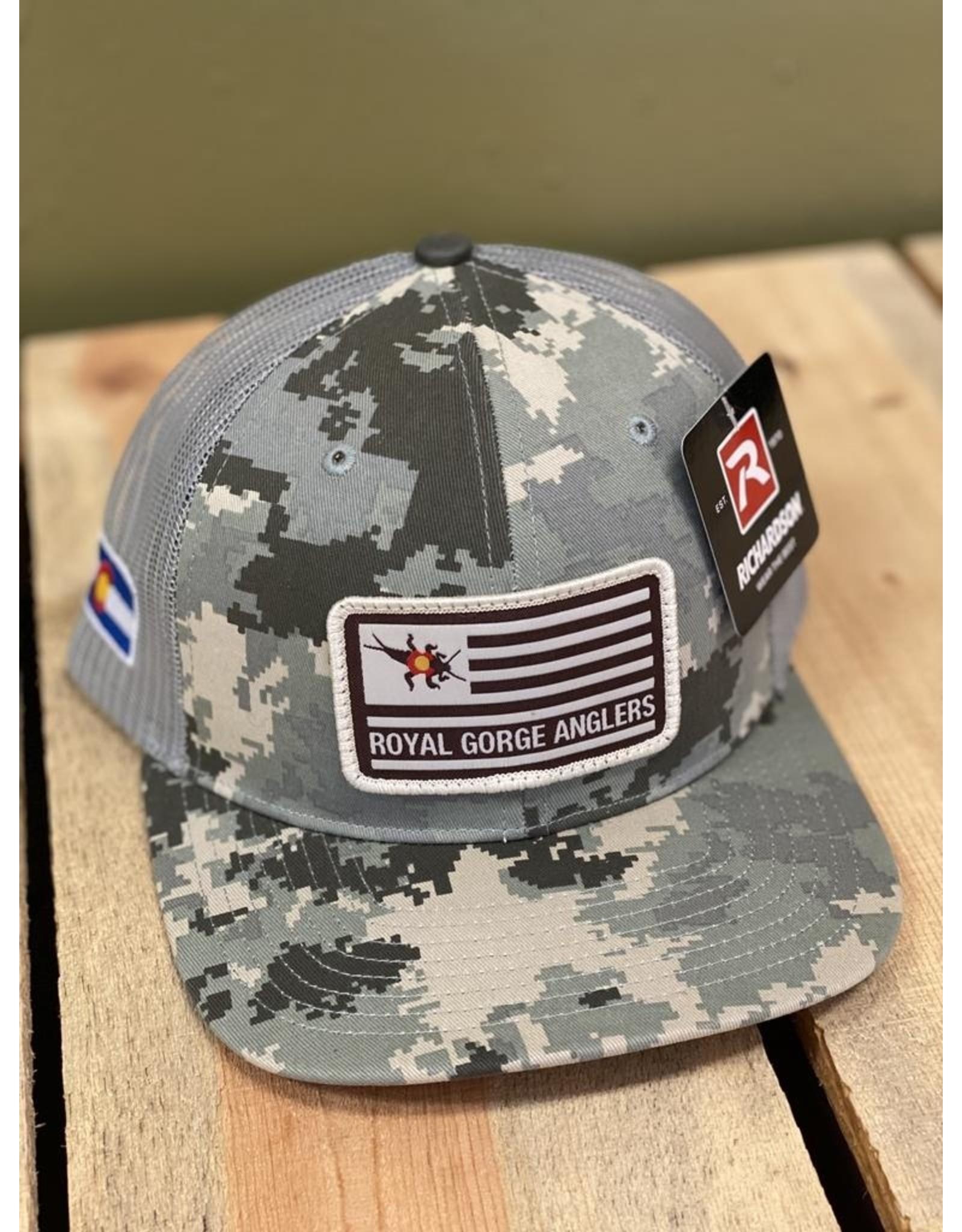 Richardson Stonebug Flag Patch Trucker Hat (Digi Cam/ Lt Green)