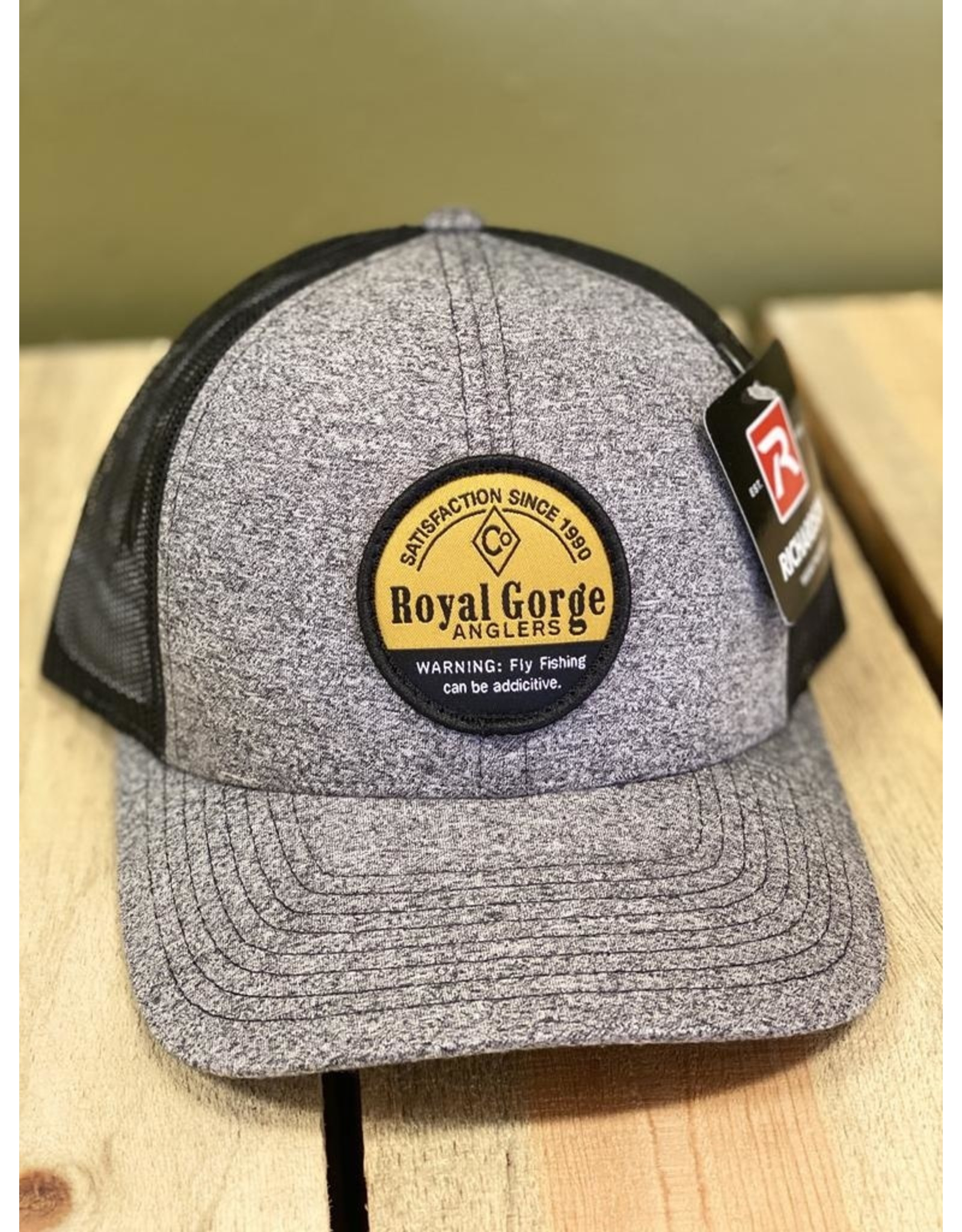 Richardson RGA Addictive Trucker Hat (Black Heather/ Black)