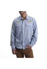 Howler Howler Gaucho Snapshirt Pale Blue Oxford