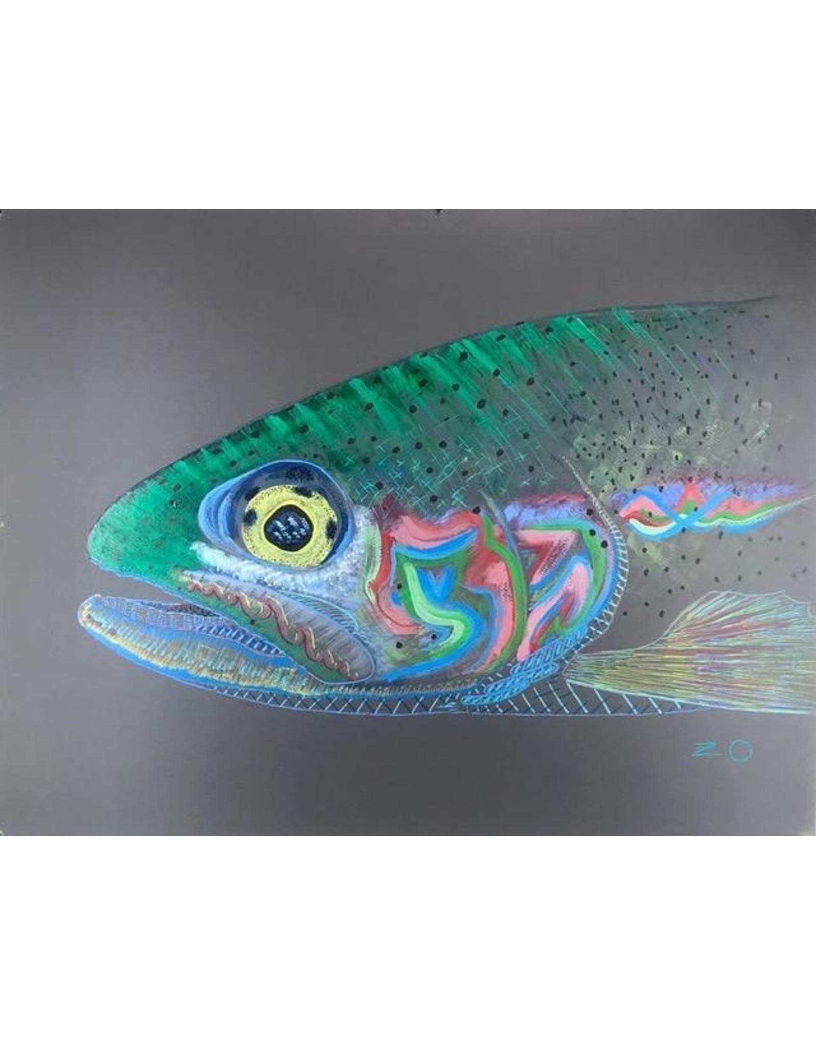 """Rio Escondido Rainbow (23.75""""x18.5"""") Acrylic on Mi-Tientes Paper"""