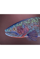 """Tribal Trout Colorado River Cutthroat II (25.5""""x19.5"""")  Acrylic on Canson Mi Tientes paper"""
