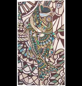 MFC Fish Gaiter (Sun Mask) Larko's Doodle Bass