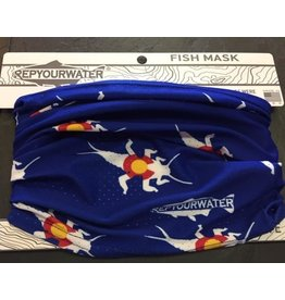 Rep Your Water Rep Your Water Fish Mask Stonebug Logo (Blue)