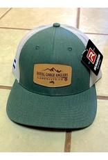 RGA Leather Patch Trucker (Dk Green/ Lt Grey)