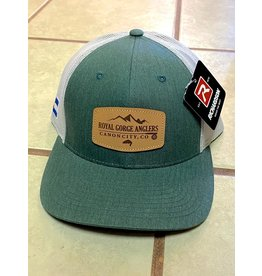 RGA Leather Patch Trucker (Dk Green/ Lt Grey)