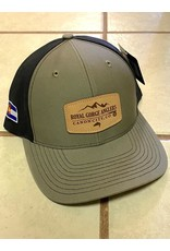 Richardson RGA Leather Patch Hat (Loden/Black)