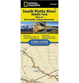 Nat Geo Nat Geo South Platte River Map (Detailed) Alma to 11 Mile Resv.