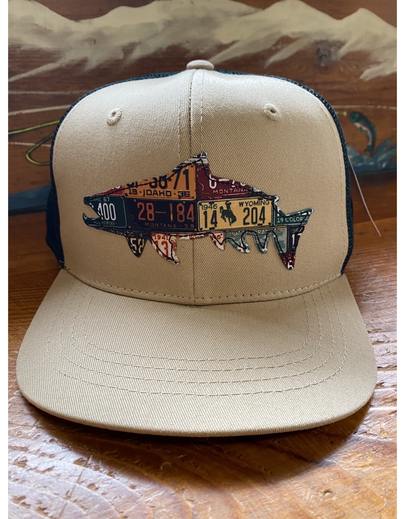Rep Your Water Western Trout License Plate Fish Trucker Hat (Rep Your Water/ Cody's Fish Collaboration)
