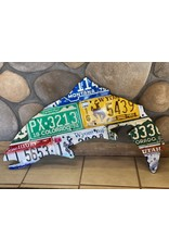 Mixed Western State Trout License Plate Art