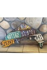 Colorado Antique Trout License Plate Art