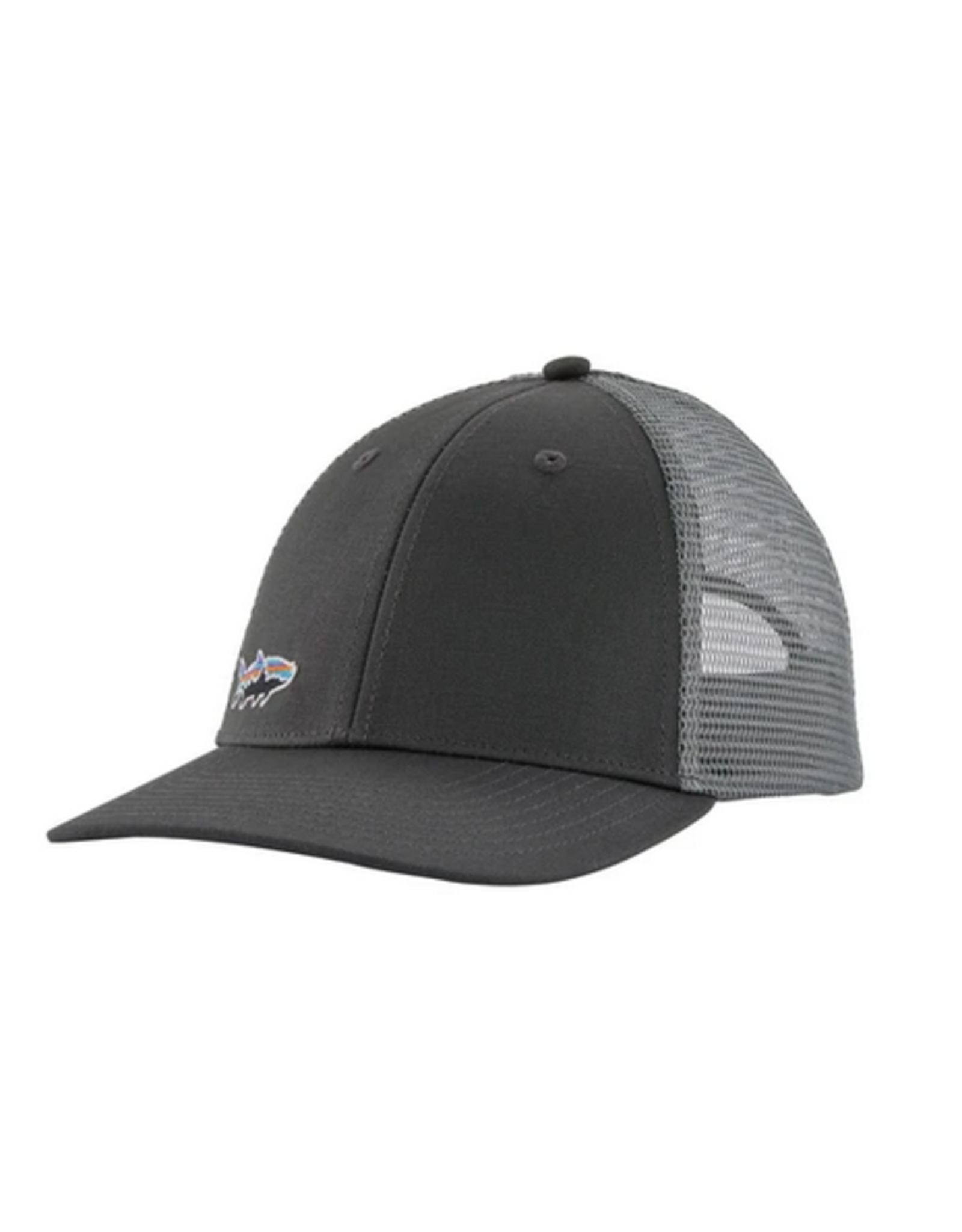 Patagonia Small Fitz Roy Fish LoPro Trucker Hat (Forge Grey)