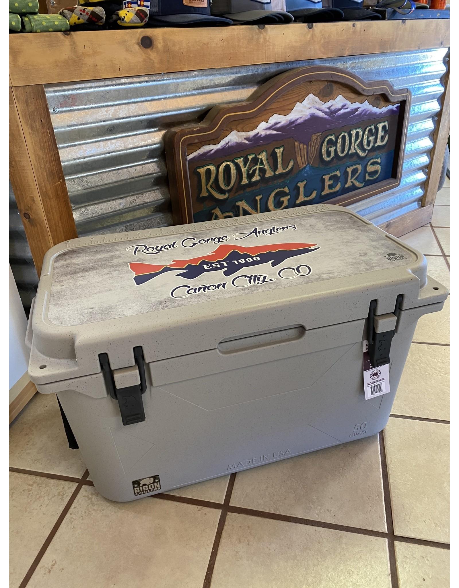 Bison Bison 50qt Cooler (w/ RGA Lid Graphic)