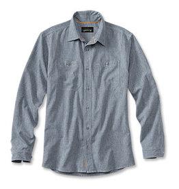 Orvis Orvis Tech Chambray Work Shirt Blue Chambray
