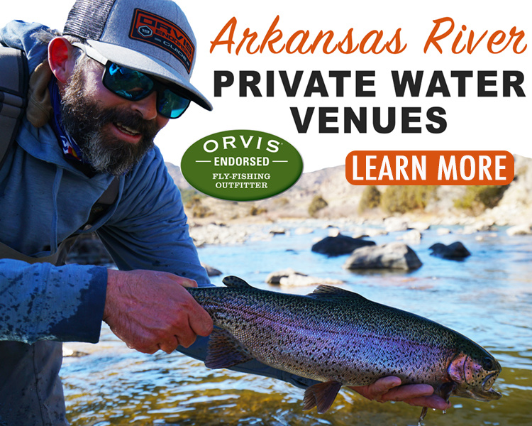 Arkansas River Private Water Fly Fishing Guide Trip