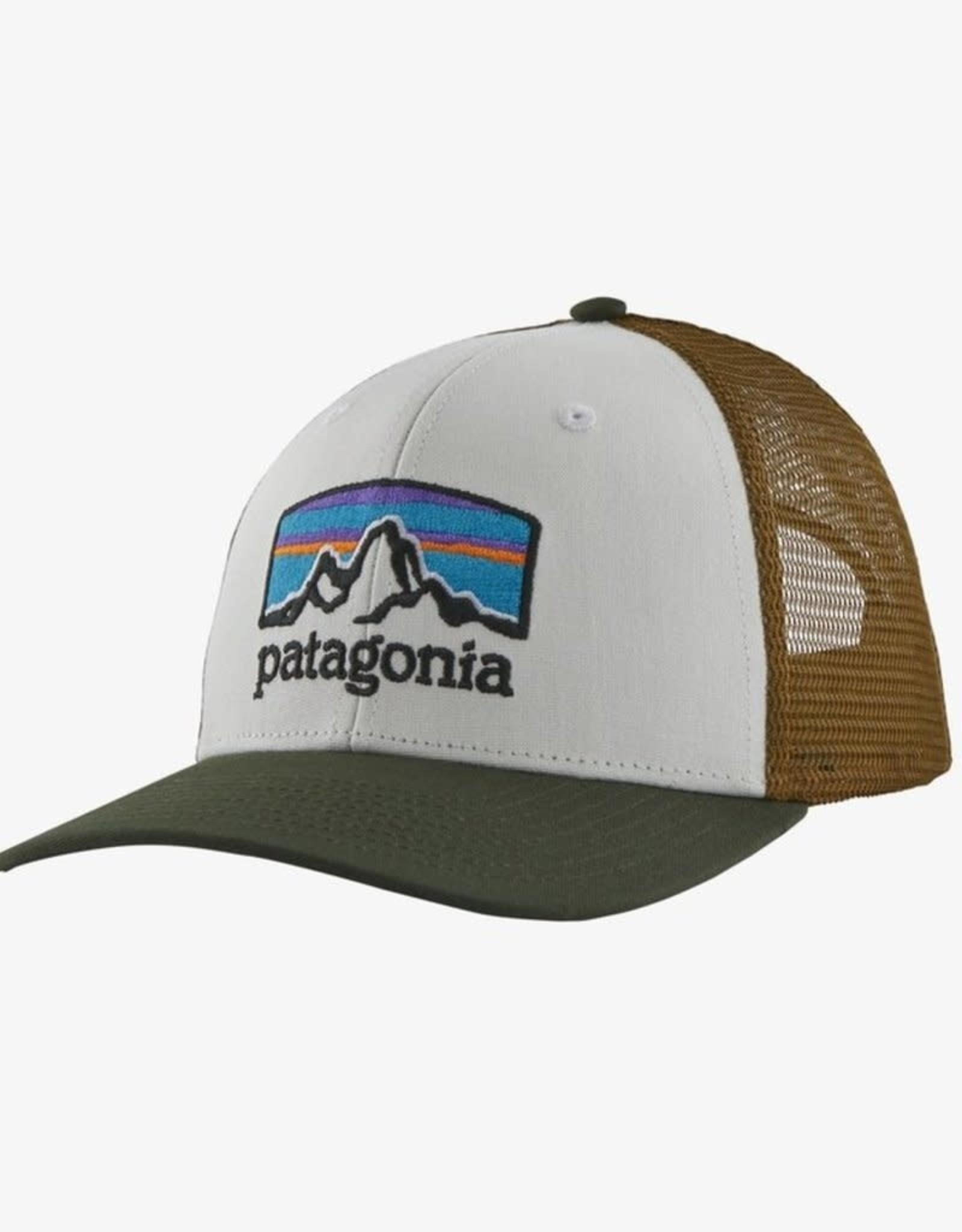 Patagonia Fitz Roy Horizons Trucker Hat (White w/ Kelp Forest)