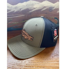 Richardson RGA Tribal Trout Leather Patch Hat (Loden/ Black)