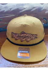 Richardson RGA Tribal Trout Leather Patch Camper Performance Hat (Biscuit)
