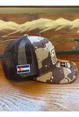 Richardson RGA Flag Patch Trucker (Desert Camo/ Brown)