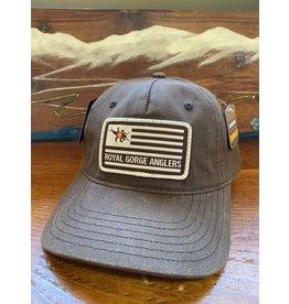 Richardson RGA Flag Patch Waxed Cotton Hat (Brown)