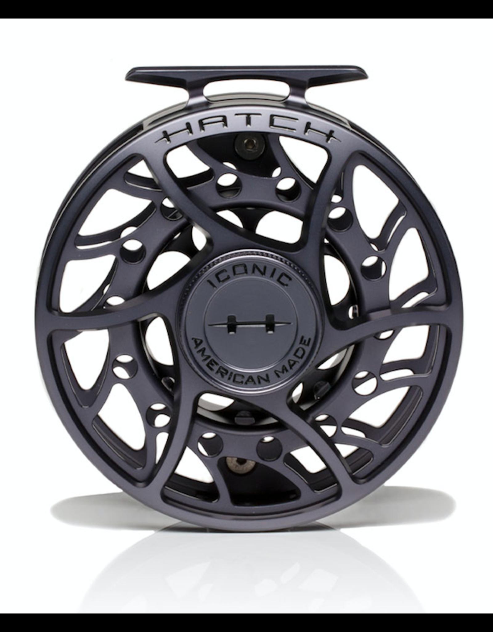 Hatch HATCH Iconic 9 Plus Reel (Grey/ Black) Mid Arbor