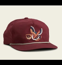 Howler HOWLER Unstructured Snapback Hat- Pelican (Maroon)