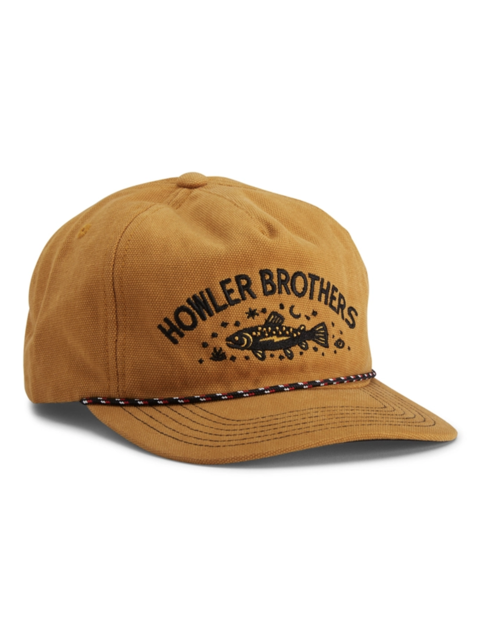 Howler HOWLER Unstructured Snapback Hat- Creative Trout (Old Gold)