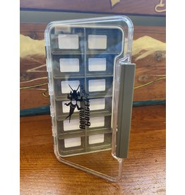RGA Waterproof Clear Thin Fly Box (8 comp Magnetic)