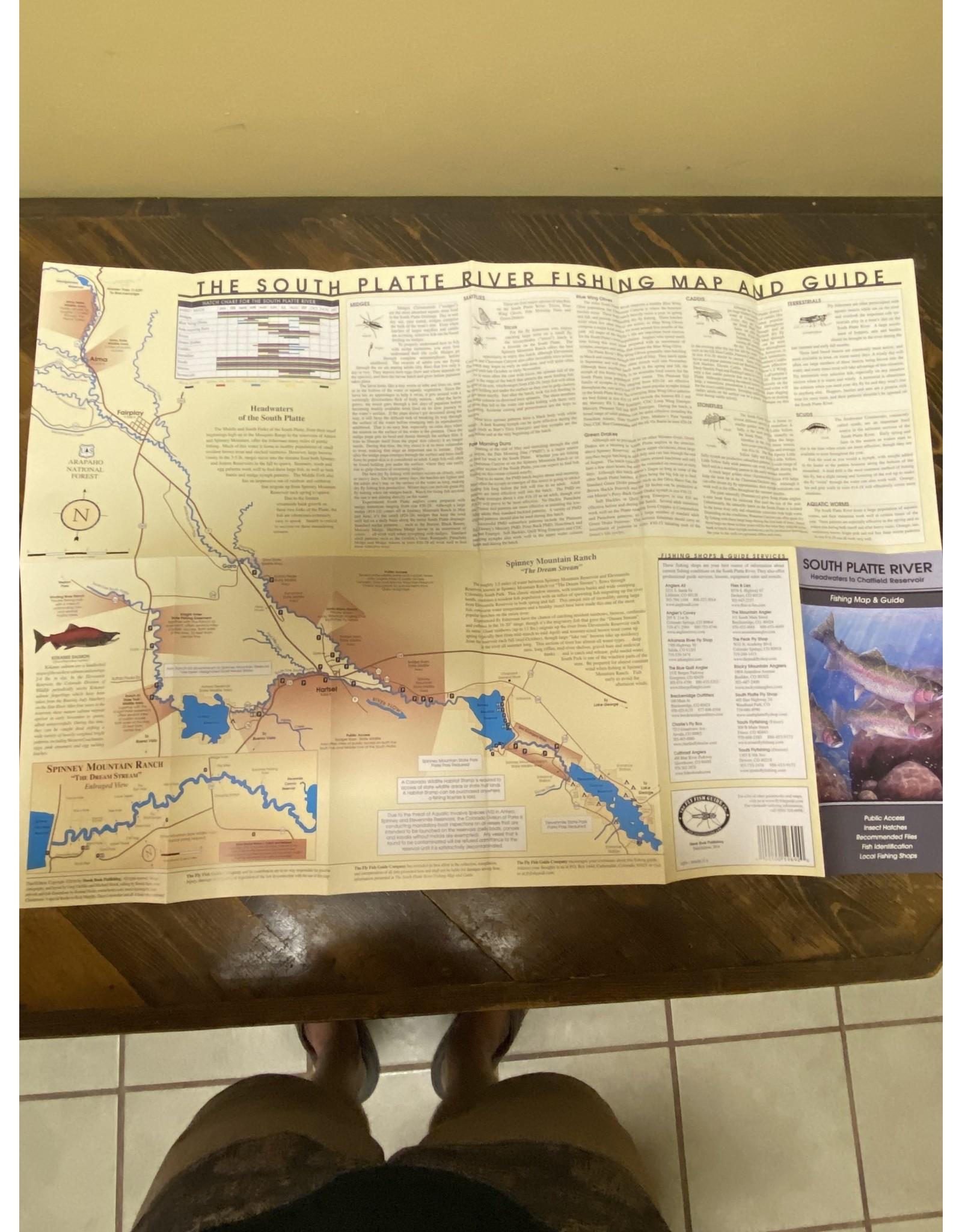 Shook Publishing South Platte River Fishing Map & Guide